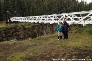 The  suspended bridge at Miles Canyon