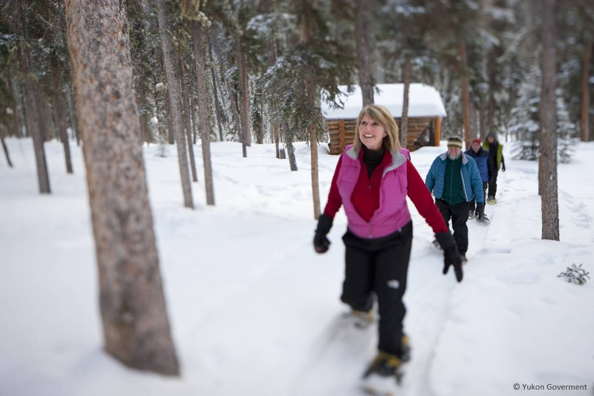 Snowshoeing on Yukon's winter trails